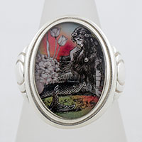 Mermaid La Luxure Cameo Style Ring