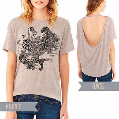 Mermaid La Luxure pony open back t-shirt - TIMT