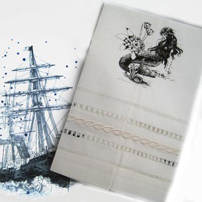 Mermaid La Luxure Nautical Tea Towel