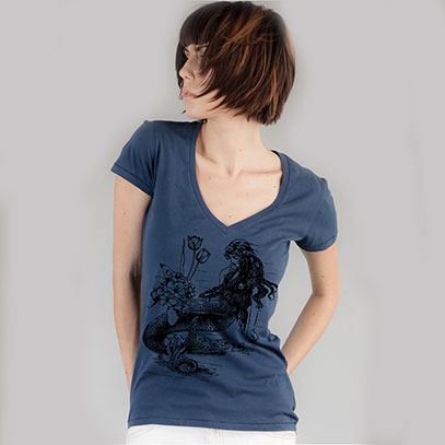 Mermaid V-Neck vintagesoft shirt - TIMT