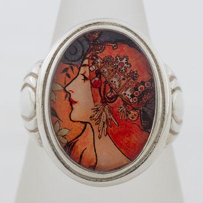Alphonse Mucha Zodiac le Plume