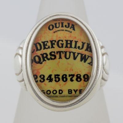 Ouija Board Cameo Style Ring