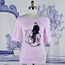 Gentleman Owl on a Bicycle Elbow Length T-Shirt SALE
