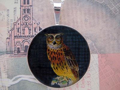 Owl Sterling Pendant