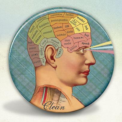 Clean Mind Phrenology Style