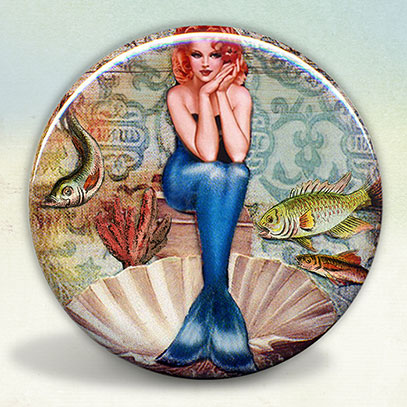 Mermaid Pin Up