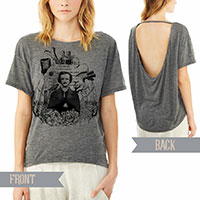 Edgar Allan Poe pony open back t-shirt