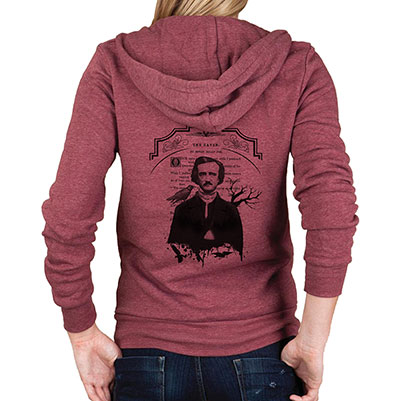 Edgar Allan Poe Rocky Eco-Fleece Hoodie