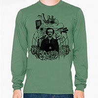 Edgar Allan Poe Men's or Unisex Organic Long Sleeve T-shirt