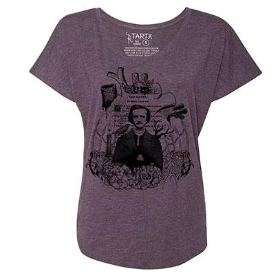 Edgar Allan Poe Tri-Blend Dolman T-Shirt