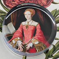 The Princess Elizabeth Tudor I Glass Round Paperweight