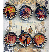 Femme fatale pulp pin ups Drink Charms