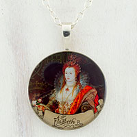 Queen Elizabeth Sterling Pendant