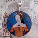 Queen Mary I Tudor of England Sterling Pendant