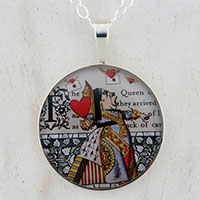 The Queen of Hearts Sterling Pendant