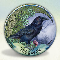 Moon Raven Pocket Mirror