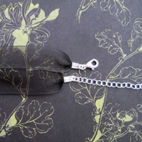 {No. 11} Black Organza Ribbon with Sterling Findings