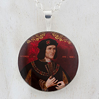 King Richard III Sterling Pendant