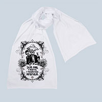 Calavera's Toasting Screen printed Cotton Scarf