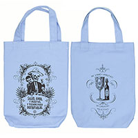 Calavera's Toasting Organic Cotton Liquor and Wine Bottle Tote Bag