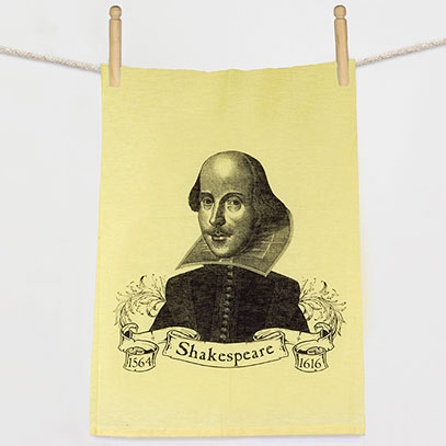 William Shakespeare Yellow Flour Sack Towel