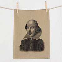 William Shakespeare Flour Sack Towel