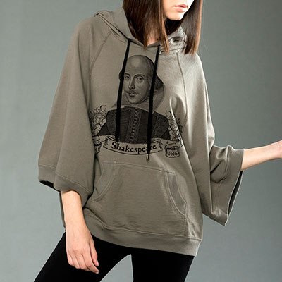 William Shakespeare Poncho Hoodie