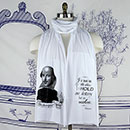 William Shakespeare In The Stars Scarf Light Pink - TIMT