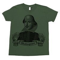 William Shakespeare Kids Tee Shirt Size 2-12