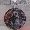 Alice Strange Little Girl Sterling Pendant
