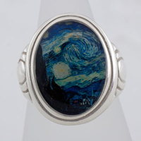 Starry Night Cameo Style Ring