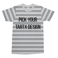 Striped Heather Grey T-Shirt Choose your TARTX image