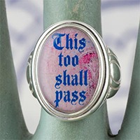 This Too Shall Pass Cameo Style Ring