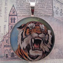 Tiger Sterling Pendant