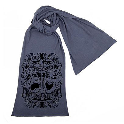 Comedy Tragedy Theatre Masks Scarf