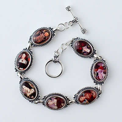 Tudors King Henry VIII and his Six Wives Bracelet