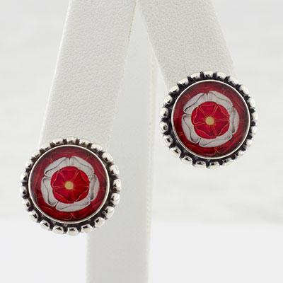 Tudor Rose Round Post Earrings