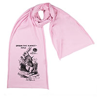 White Rabbit Alice Wonderland Screen printed Cotton Scarf