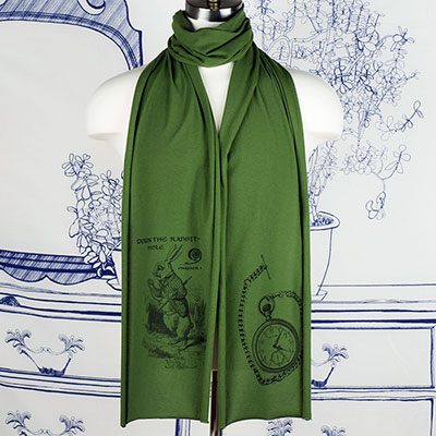 White Rabbit Alice Wonderland Scarf